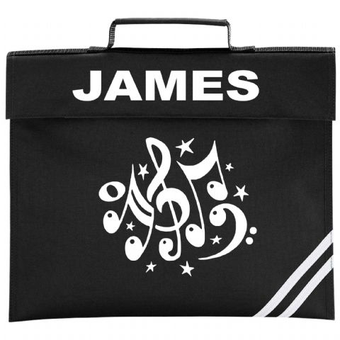 Music Notes Book Bag 2